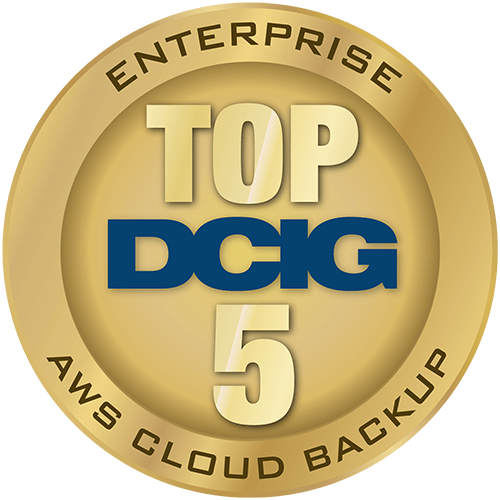Top 5 DCIG Enterprise AWS Cloud Backup award