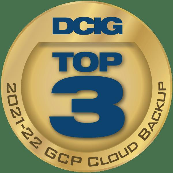 DCIG Award: Top 3 in GCP Cloud Backup, 2021-2022