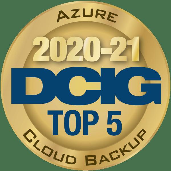 DCIG Top 5 Award, Azure Cloud Backup, 2020-2021